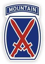10th Mountain Division Hard Hat Decal / Helmet Sticker Label Military Army USA