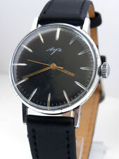 NICE GENTS WATCH LUCH BLACK DIAL ULTRA-SLIM SOVIET RUSSIAN Good Cond* Serviced*