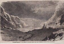 1865  --  VILLAGE DE GAVARNIE ASSAILLI PAR UNE AVALANCHE   3D847