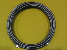 RFC-400, Scanner Antenna Low Loss Coax Cable PL259 male to BNC Male, 100 ft.