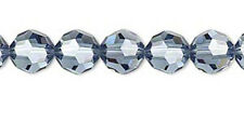 6 Denim Blue Swarovski Crystal 5000 Faceted Round Beads 8MM