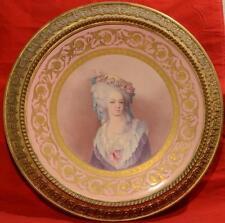 "SEVRES ARTIST PORCELAIN  PLAQUE SIGNED L. MALPASS FRENCH GORGEOUS 21"" ca.1800s"