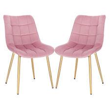 2x Polsterstühle rosé//gold Samtbezug Esszimmerstühle Stuhlset modern design