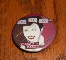"""Duran Duran Rio Button Pin Original Promo 1 1/4"""" RARE"""