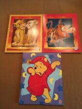 3 Preschool Mattel Disney Puzzels Pooh & Lion King