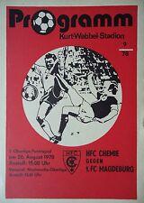 Programm 1978/79 HFC Chemie - FC Magdeburg
