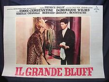 FOTOBUSTA CINEMA - IL GRANDE BLUFF - EDDIE CONSTANTINE - 1957 - AVVENTURA - 03