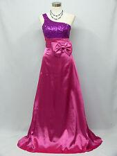 Cherlone Pink One Shoulder Ballgown Wedding Evening Bridesmaid Formal Dress 12