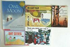 5 Picture Books Have You Seen My Cat Ox-Cart Man Owl Moon Sarah Noble Ant Cities
