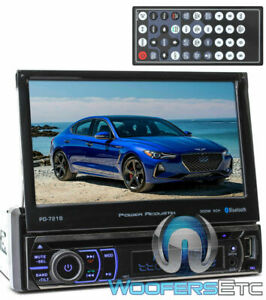 "BLUETOOTH 7"" TV TOUCH SCREEN DVD MP3 USB SD MP4 IPOD AUX CAR STEREO FLIP OUT NEW"