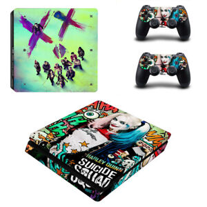For PS4 Slim Console & Controller Skin Clown Girl:Harley Quinn Vinyl sticker #6