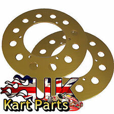 KART 2 x Q-Line Aluminium Sprocket Protectors 230mm Covers upto 87t FREE POSTAGE