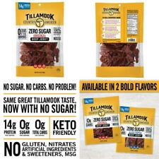 Tillamook Country Smoker Zero Sugar Original Keto Friendly Beef Jerky, 6.5 Ounce