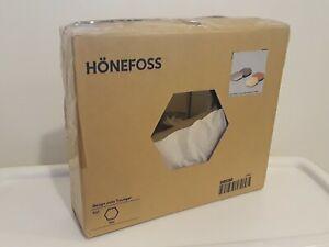IKEA HONEFOSS 10 HEXAGONAL CHROME BRASS MIRRORS DECOR JULIA TREUTIGER NEW