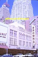 1960s 35mm Slide Photo Of Brown's Department Store&Sign In New York&Cars SL201