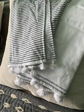 Two White Company Tassled Hand Towels Bnwot
