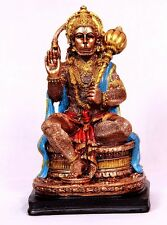BIG HANUMAN STATUE 22 CM Hindu Monkey God HIGH QUALITY Bronze Color Resin idol