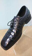 Giorgio Brutini Men's Dark Blue Crocodile Embossed Leather Shoes Size 11 M