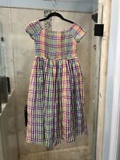 CREWCUTS GIRLS XXL XX-LARGE 10 PINK PURPLE Green Blue Smocked DRESS GIRLS