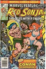 MARVEL FEATURE #7 Red Sonja VS Conan 1976 G-VG
