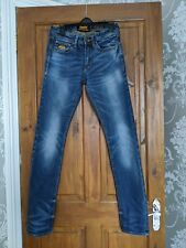 Men's Superdry Copper Black Denim Corporal Slim Jeans W28 L32