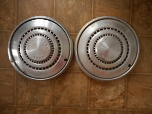 Ford Vintage Hubcaps 70's ? AS IS as found Model Lot of 2 Used