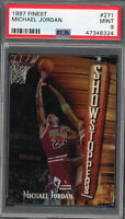 Michael Jordan Chicago Bulls 1997 Topps Finest Basketball Card #271 PSA 9 MINT