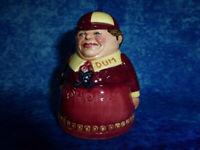 """Vintage ROYAL DOULTON 1998 """"Tweedle Dum"""" Character Salt Shaker Pot D7121 RARE"""