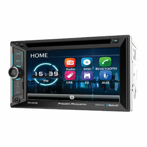 """Power Acoustik PD-623B Double 2 DIN CD/DVD Player 6.2"""" LCD Bluetooth USB SD AUX"""