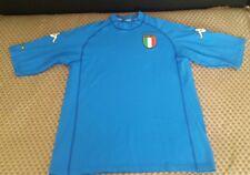 Italy Football National T Shirt Top Kappa Gava Retro Blue 3Stars size XL