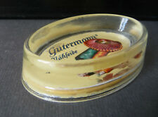 Glass Shelf Bowl with Advertisement Gütermanns Nähseide
