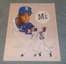 Seattle Ken Griffey Jr Lithograph Print Anthony Douglas Artist Proof Of 25 Rare