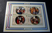 Souvenir Sheets Foreign Burundi  Scott# 579-582 Christmas  1980  MNH  C503