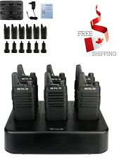 Retevis RT-22 Walkie Talkie Rechargeable UHF Channel Lock Hands Free 2 Way Radio