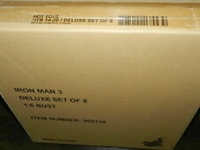 HOT TOYS IRON MAN 3 DELUXE BUST SET SEALED IN SHIPPER (8 PIECES) GEM SET 1/6 SC