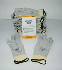ATLAS 372 SHOWA WORK GLOVES  FULLY COATED NITRILE  - 12 PAIR ~ SMALL / GRAY