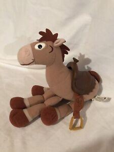 "2003 Hasbro Toy Story Disney Pixar Bullseye the Horse 10"" Plush Plastic Saddle"