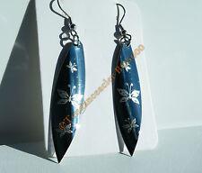Boucles d'Oreilles 73 mm Acier Inox Torsadé Papillons