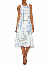 Timo Weiland Emilie Print Cut Out Fit and Flare Dress Size 4 $525