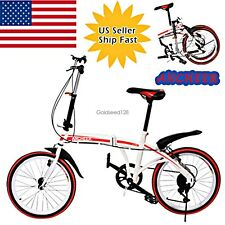 "Pro.20"" Folding Bike 6-Speed Bicycle Fold Storage School Sports Outdoor US Stock"