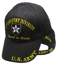 U.S. Army 2nd Infantry Division Second to None Black Embroidered Cap Hat