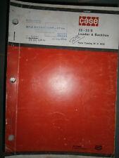 Case tractopelle chargeur excavateur 33 - 33S : catalogue de pièces