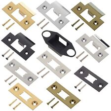 Door Latch Keep Strike & Face Plate Tubular & Mortice Latches Premium UK Quality