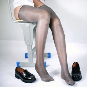 Women High Stockings Sexy Oil Shiny Glossy Body Thighs Hosiery Fancy Stockings