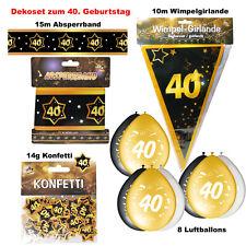 Deko Set 40. Geburtstag  Party 40 Jahre Dekoration Jubiläum Zubehör