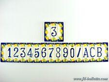 Numeri civici in ceramica,numero civico ceramica limoni,piastrelle ceramica nlpi