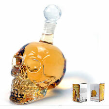 350ml-  Crystal Head Vodka Skull Face Bone Glass Bottle Decanter Empty Bar Line