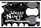 Wallet Ninja Multi-Tool Card Pocket Size Screwdriver Bottle Opener 18n1 FAST C92