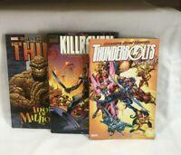 Marvel 3 graphic novel lot ,Killraven, The Thing, Thunderbolts classic ,