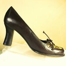 Stephane Kelian Paris Womens Brown Woven Leather High Heels Shoes Pumps Size 6